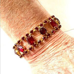 1960s red rhinestone Bracelet